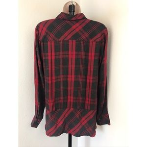 CAbi Tops - Cabi Cunningham Red Plaid Shirt